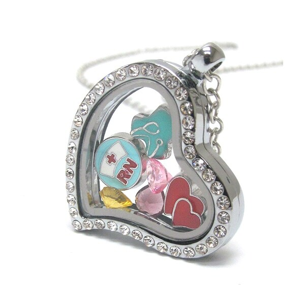 Heart Charm Locket for Nurse RN