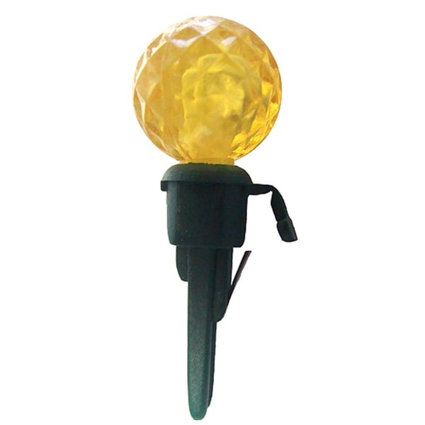 Pack of 12 Yellow LED G12 Berry Replacement Christmas Light Bulbs - Green Husk