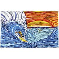 Handmade Cotton Sunset Surfer Tapestry Tablecloth Spread Twin 60x90 Dorms Decor