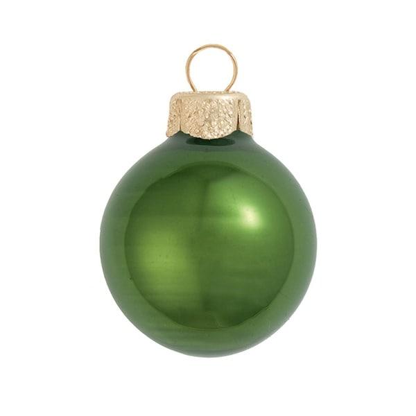 "40ct Pearl Green Glass Ball Christmas Ornaments 1.5"" (40mm)"