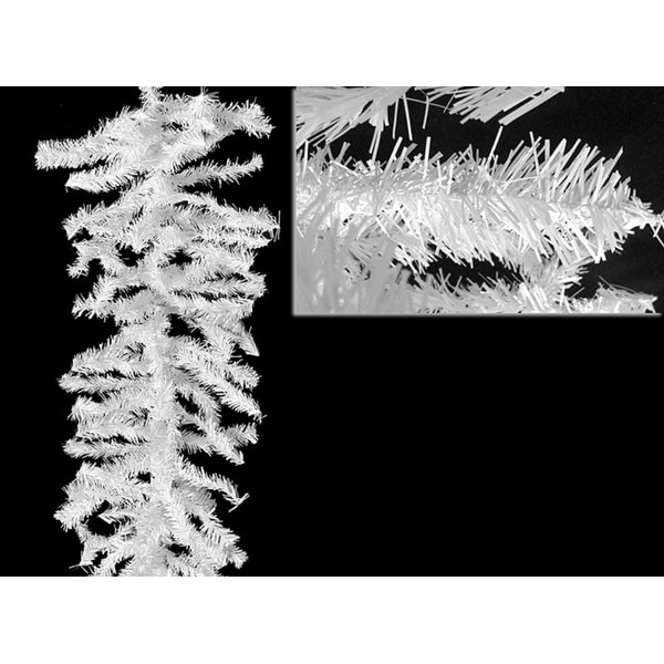 """9' x 12"""" White Canadian Pine Artificial Christmas Garland - Unlit"""