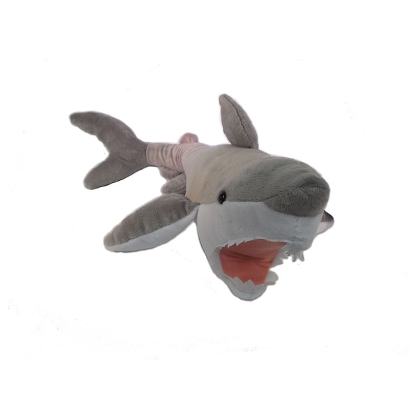 "Wishpets Unisex-Child Great White Plush Toy 27"" Gray"