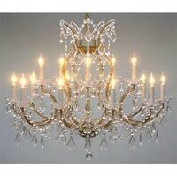 "Maria Theresa Crystal Lighting Chandelier - H28"" X W37"""