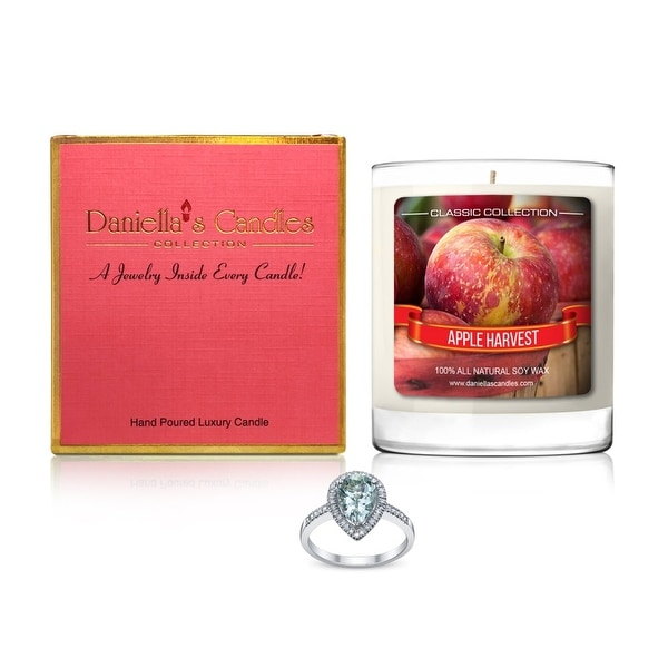 Daniella's Candles Apple Harvest Jewelry Candle, Ring Size 9