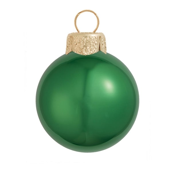 "Pearl Green Xmas Glass Ball Christmas Ornament 7"" (180mm)"