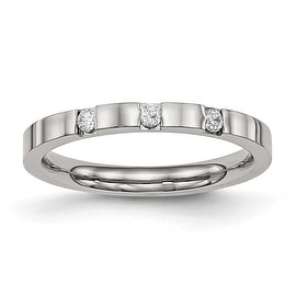 Stainless Steel Polished Tri Color Interlocked Wedding