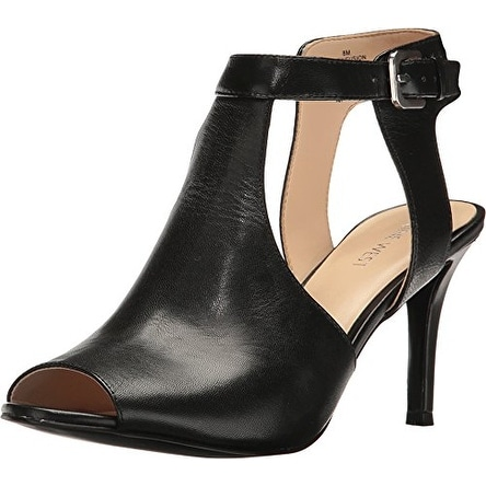 Nine West Womens infusion Leather Peep Toe Ankle Strap D-orsay Pumps