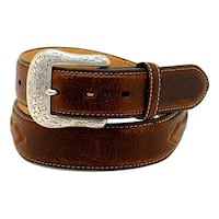 Ariat Western Belt Mens Leather Concho Arrow Brown Rowdy