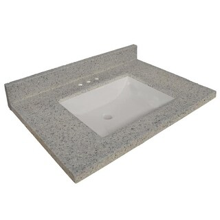 """Design House 557553 31"""" Marble Vanity Top Only with 3 Faucet Holes"""