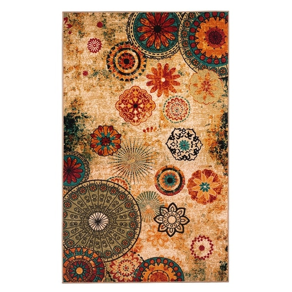 New Medallion Multi Colored Area Rug 8x10 Carpet Soft Rug