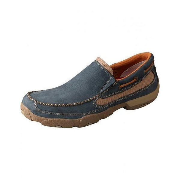 Twisted X Casual Shoes Mens Slip On Driving Mocs Soft Blue