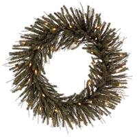 """24"""" Pre-Lit Vienna Twig Artificial Christmas Wreath - Clear Lights"""