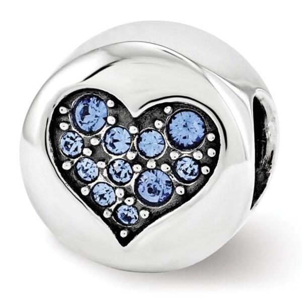 Sterling Silver Reflections Swarovski Elements Sep-Wisdom Bead (4mm Diameter Hole)