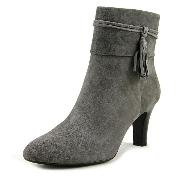 Bandolino Willaria Women Pointed Toe Suede Gray Bootie