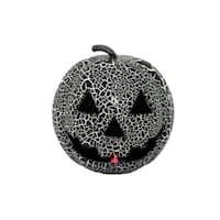 Crackle Black Light Up Pumpkin Halloween Décor
