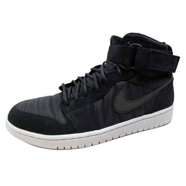 Nike Men's Air Jordan 1 High Strap Black/Black-Pure Platinum 342132-004