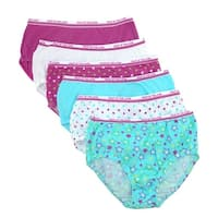 Fruit of the Loom Girl's Cotton Briefs Underwear (Pack of 6)