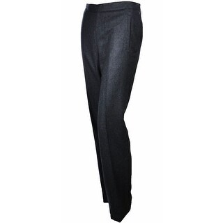 Sutton Studio Womens 100% Cashmere Slim Dress Pants Misses Sizes - Heather Charcoal