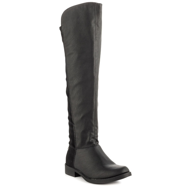 Just Fab Womens Laura Closed Toe Knee High Fashion Boots