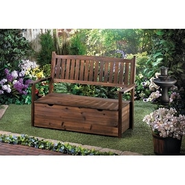 Brown Wooden Outdoor Storage Bench Reviews Prices