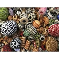 Acrylic Old World Beads, 1 Pound, Assorted Colors