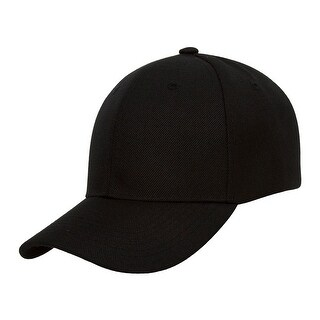 TopHeadwear Plain Adjustable Curved Bill Caps