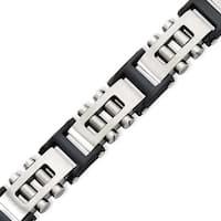 Stainless Steel IP Black Plated 8.75in Bracelet