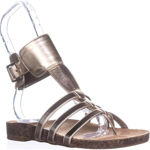 Circus by Sam Edelman Katie Ankle Strap Flat Sandals, Molten Gold - 6 us / 36 eu