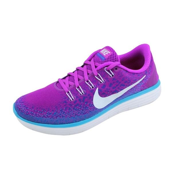 Nike Women's Free RN Distance Hyper Volt/Blue Tint-Purple-Blue 827116-501