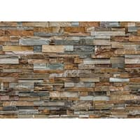 """Brewster DM159 100"""" x 144"""" - Colorful Stone - Unpasted Vinyl Coated Paper Mural - 8 Panels - N/A"""