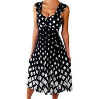 Funfash Plus Size Women Diamond White Black Cocktail Dress Made in USA