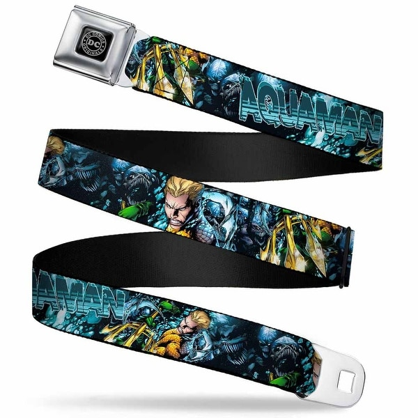 Dc Originals Black Silver Aquaman The Trench Part One Comic Book Cover Seatbelt Belt