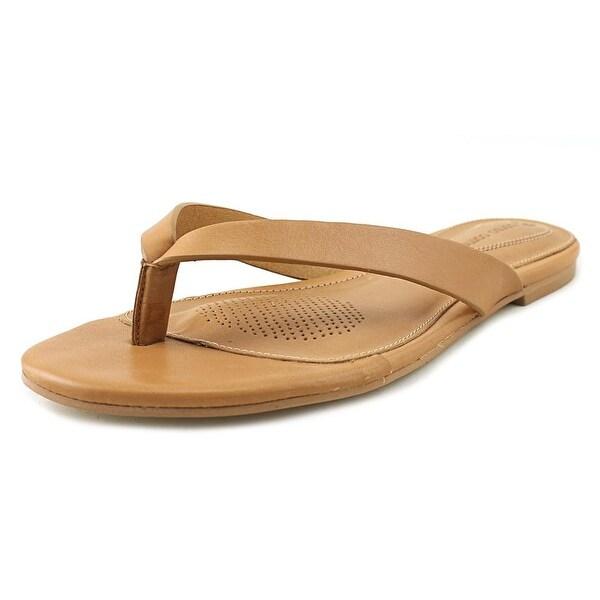 Corso Como Volley Women Open Toe Leather Tan Thong Sandal