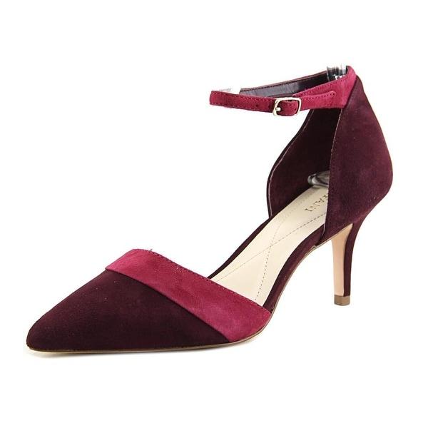 Alfani Jorrdyn Women Pointed Toe Suede Purple Heels