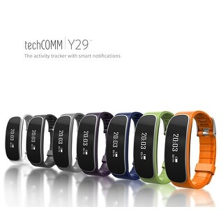 TechComm Y29 Fitness Tracker Band with Heart Rate Monitor Call & Text