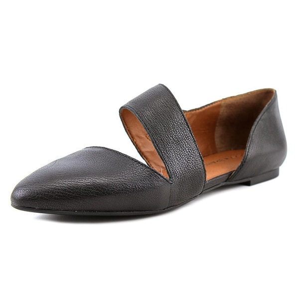 Lucky Brand Madysonn Women Pointed Toe Leather Black Flats