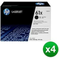 HP 61X High Yield Black Original LaserJet Toner Cartridge (C8061X) (4-Pack)
