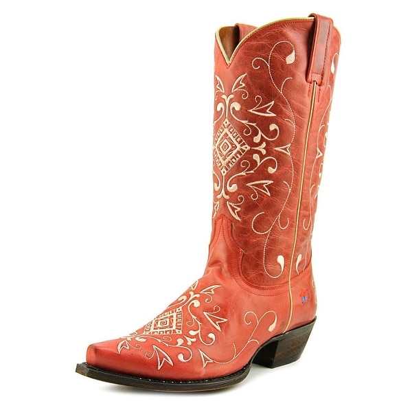 Redneck Riviera Dreamweaver Women Pointed Toe Leather Red Western Boot