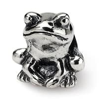 Sterling Silver Reflections Kids Frog Bead (4mm Diameter Hole)