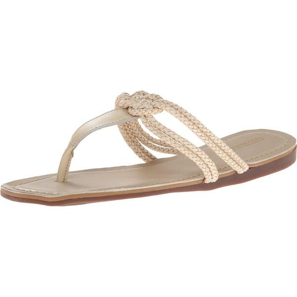 Sebago NEW Beige Poole Knot Size 6.5M T-Strap Leather Sandals