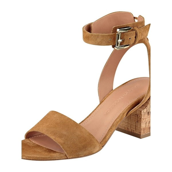 Sigerson Morrison Womens Riva2 Dress Sandals Suede Block Heel