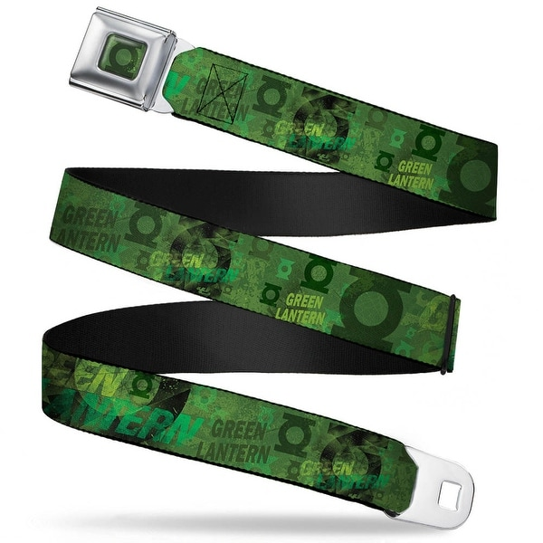 Green Lantern Logo Weathered Full Color Greens Green Lantern Logo Collage Seatbelt Belt