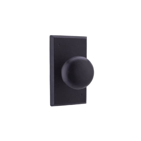 Weslock 7310F Wexford Privacy Door Knob with Square Rose from the Molten Bronze Collection