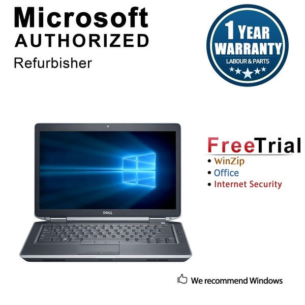 "Refurbished Dell Latitude E6430S 14.0"" Laptop Intel Core i5 3320M 2.6G 8G DDR3 320G DVD Win 10 Pro 1 Year Warranty - Black"