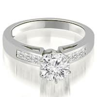 1.05 cttw. 14K White Gold Channel Set Princess Cut Diamond Engagement Ring