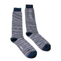 Missoni GM00CMU4957 0002 Blue/Mustard Knee Length Socks - M