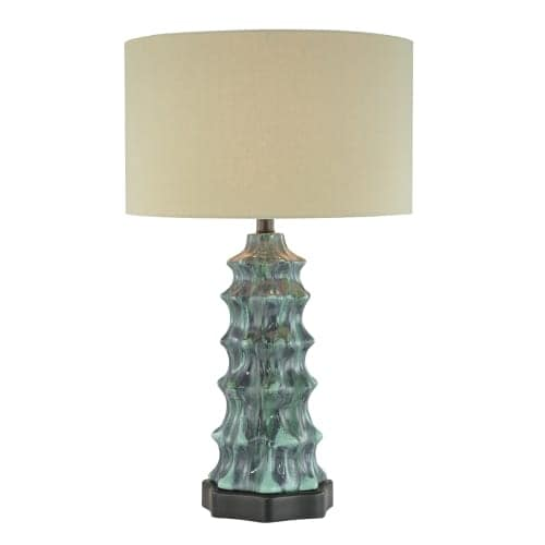 "Ambience AM 10171 1 Light 26"" Height Table Lamp with Cream Shade"