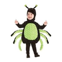 Underwraps Cuddly Spider Toddler Costume - Black/Green