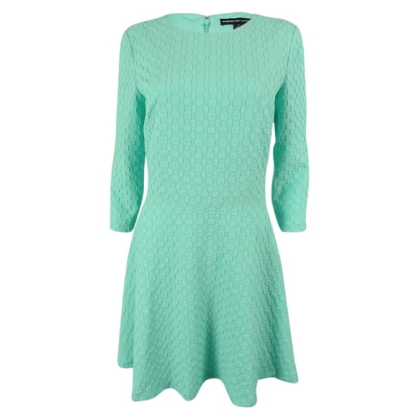 American Living Women's 3/4 Sleeves Jacquard Dress