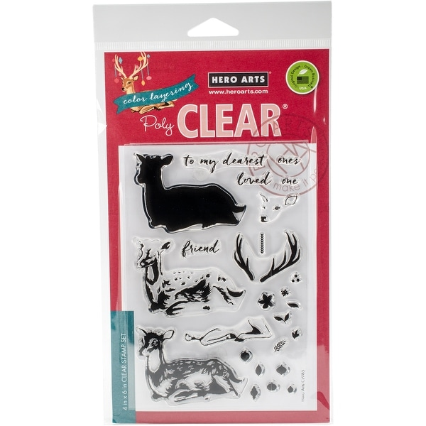 """Hero Arts Clear Stamps 4""""X6""""-Color Layering Deer"""